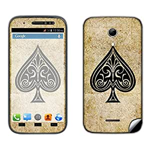 Skintice Designer Mobile Skin Sticker for Micromax Canvas 2.2 A114, Design - Spades