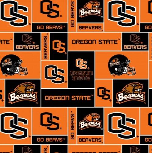 College University Of Oregon State Beavers Print Fleece Fabric By