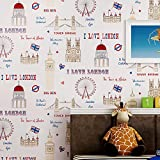1pc Luxury European Flock Non-woven Metallic Floral Damask Wallpaper Design Modern Vintage wall paper (10m x 0.53m, 42)