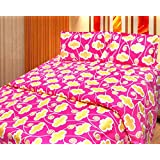 Cosmosgalaxy Cotton Double Bedsheet With Pillow Covers - Queen Size, Multicolor - B00SWKMFQ2