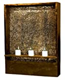 Kenroy Home #50605AMBZ Shadow Indoor Wall Fountain in Amber Bronze Finish with Crackled Glass