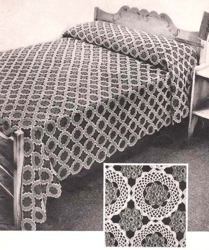 Galaxy Motif Bedspread Crochet Pattern Crocheted Together - No Sewing PDF