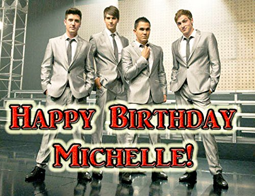 Big Time Rush 1/4 Sheet Edible Photo Birthday Cake Topper. ~ Personalized! front-13873