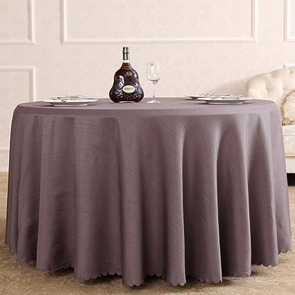 Color sólido,mantel,hoteles de sala de reunión redondo mantel,paño de estilo europeo del,tipo de la secundario-torcedura,arroz gris blanco,mantel-A Diameter:400cm(157inch)