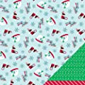 American Crafts Peppermint Express Red Sleigh 12x12 Christmas Paper