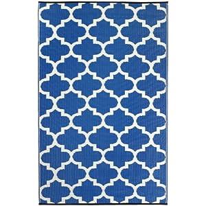 Tangier Blue & White Rug