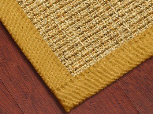 """Studio"" Sisal Natural Fiber Rug (Boucle Design) 8' x 10' - Tan Cotton Binding, Non-Slip Latex Backing (Custom Size and Color Available)"