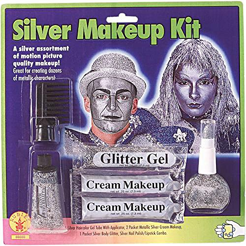 Halloween Silver Face Makeup Kit
