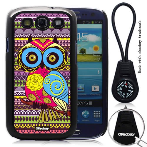 Oksobuy® -Samsung Galaxy S3 I9300 Elegant Fashion Style Owl Aztec Andes Tribal Pattern Samsung Galaxy S3 I9300 Case Cover Skin Protection for the Samsung Galaxy S3 I9300 (Samsung Galaxy S3 I9300 Case,black)-0321