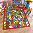 Superb Kids / Childs Rug Snake & Ladders Play Mat 1m x 1m (3'3 x 3'3 approx)