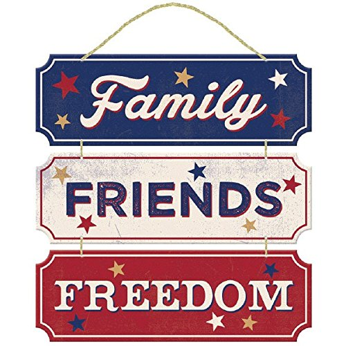 Amscan Americana Fourth of July Party Friends Decoration, Multi Color, 12 x 12""