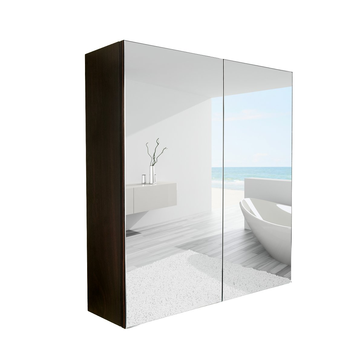 Elecwish 24 Quot Wide Wall Mount Mirrored Bathroom Medicine