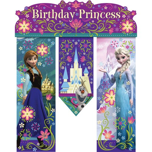Lowest Price! Disney Frozen Birthday Banner - Birthday Party Supplies