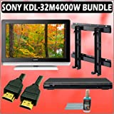 Sony Bravia M-Series KDL-32M4000/W 32-inch 720P LCD HDTV (White) + Sony DVD Player w/ Wall Mount Acc