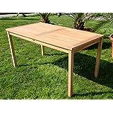 TEAK XL Holztisch Gartentisch Garten Tisch 150x80cm Gartenmöbel Holz geölt sehr robust Modell: ALPEN von AS-S