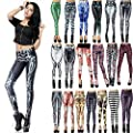 HDE Women's Funky Digital Graphic Print Designs Stretch Leggings