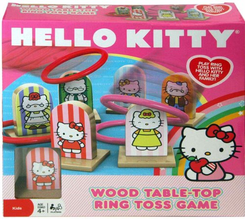 Hello Kitty Wood Ring Toss Game - 1