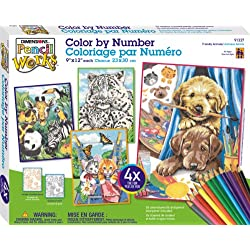 [Best price] Arts & Crafts - Dimensions Pencil by Number, Friendly Animals Variety Pack - toys-games