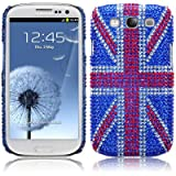 Samsung Galaxy S3 i9300 Original Union Jack Diamante Case / Cover / Shell / Shield PART OF THE QUBITS ACCESSORIES RANGEby Qubits