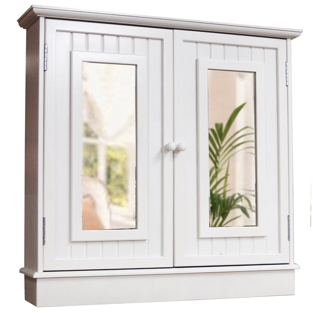TALLULA   White Double Mirror Bathroom Wall Storage Cabinet       Customer reviews and more information