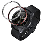 ANCOOL Bezel Ring Compatible Samsung Galaxy Watch 42mm/Gear Sport Adhesive Cover Anti Scratch Stainless Steel Protection Design for Galaxy Watch Accessory-2 Pack (Color: Q-19, Tamaño: 42mm)