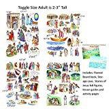 Toggle Size Story & Life Of Jesus 13 Bible Stories Set Felt Figures & Flannel Board Book Precut +Lesson Guide...