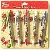 ディズニー クリスマス・ウィッシュ 2015 ボールペン 5本 セット ステーショナリー ペン ( 東京 ディズニーシー限定 グッズ )