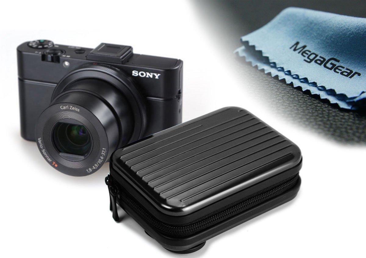 MegaGear Ultra Ligero Funda Bolsa Protector Aluminio Cámaras Réflex Para Sony DSC-RX100M II, Sony DSC-RX100M III, Canon s120, Nikon P340, Panasonic Lumix DMC-LF1, SX700, Canon PowerShot SX710 HS, Panasonic DMC-ZS40, Canon PowerShot G7X (Negro)  Electrónica revisión y más información