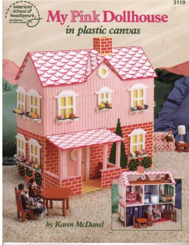 My Pink Dollhouse in Plastic Canvas