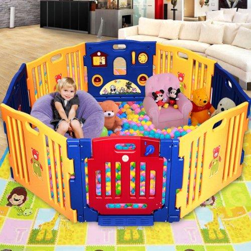 New Baby Playpen Kids 8 Panel Safety Play Center Yard Home Indoor Outdoor Pen front-849128