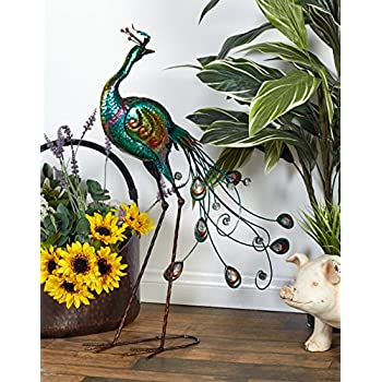 Deco 79 Metal Peacock Home Decor Product, 16