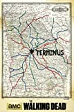 Poster The Walking Dead - Terminus - Map - 61 x 91.5 cm | PostersDE