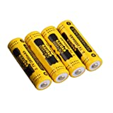 Kuerqi AA Li-ion Rechargeable Battery, 4 Pieces/Pack 3.7V 2800mAh High Capacity 14500 Lithium Betteries for Flashlights, Alarm Clocks, Remote Controls and More, Long Lasting, Packaging May Vary (Color: 4-pack)