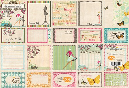 Websters Pages Trendsetter Collection Deluxe Journaling Cards