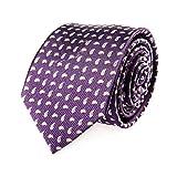 Corbata de seda púrpura de Paisley