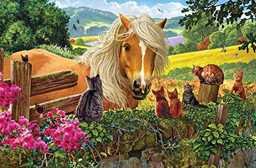New Neighbors a 100-Piece Jigsaw Puzzle by Sunsout Inc.