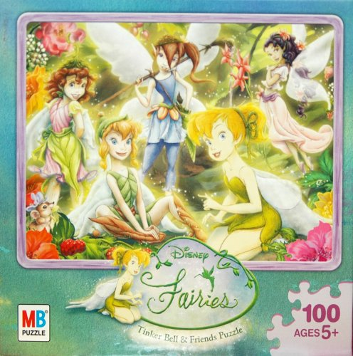 Disney Fairies 100-Piece Jigsaw Puzzle - Forest Gathering