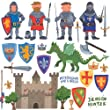 RoomMates Stickers muraux repositionnables Enfant Chevaliers et dragons (Import Grande Bretagne)