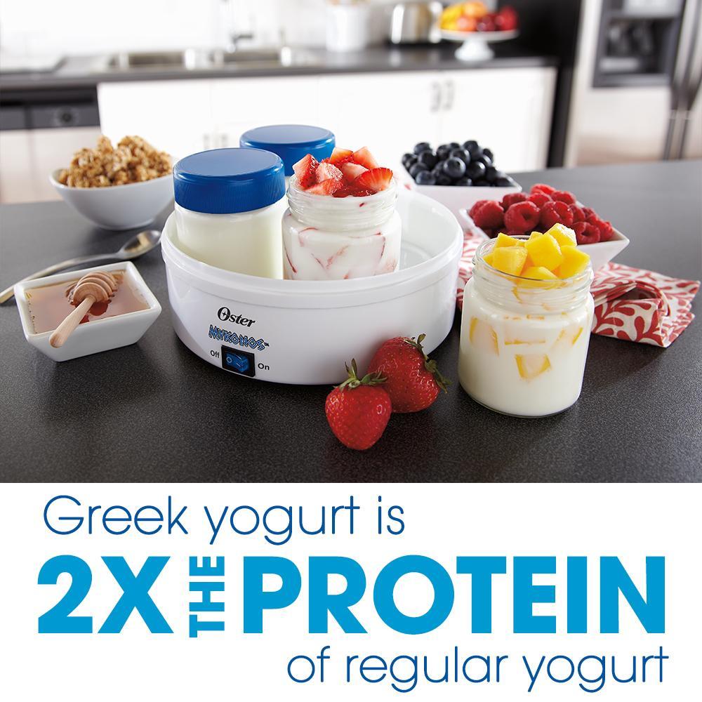 Oster mykanos greek yogurt maker for Cuisine yogurt maker manual