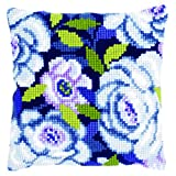 Vervaco Cross Stitch Cushion Blue Flowers