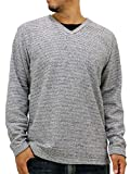 (ルイシャブロン) LouisChavlon 大きいサイズ Tシャツ メンズ ブランド 長袖 ロンT 無地 Vネック 4color 3L ミディアムグレー