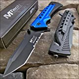 Mtech Ballistic Blue Glass Breaker Belt Cutter Rescue Knife NEW