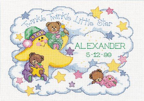 Dimensions Needlecrafts Counted Cross Stitch, Twinkle Twinkle Birth Record front-291458