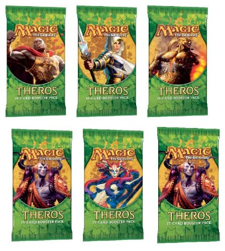 Theros 2 (Two) Player Booster Draft Set: Magic The Gathering Mtg Booster Packs (6 Total Packs) front-994078