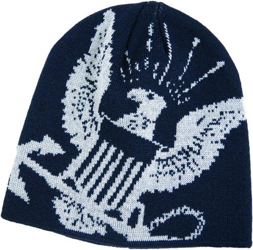 U.S. Navy Anchor Seal Logo Military Knit Cap - Woven Beanie Skull Hat