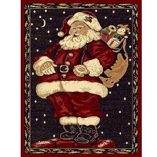 Christmas Rug Holiday Décor Santa Claus Area Rug 3ft4in x 4ft6in + Free Shipping