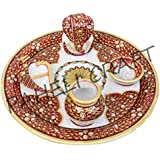 Paheli Craft Antique Rajasthani Pink City Jaipur Unique Marble Traditional Handmade Handi Spiritual Pooja / Puja...