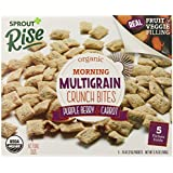 Sprout Rise Morning Multigrain Crunch Bites, Purple Berry and Carrot, 3.75 Ounce
