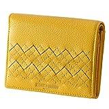 (ミチコロンドン)MICHIKO LONDON Plus2 財布 レディース 二つ折り 本革 MJ-5972 (イエロー)