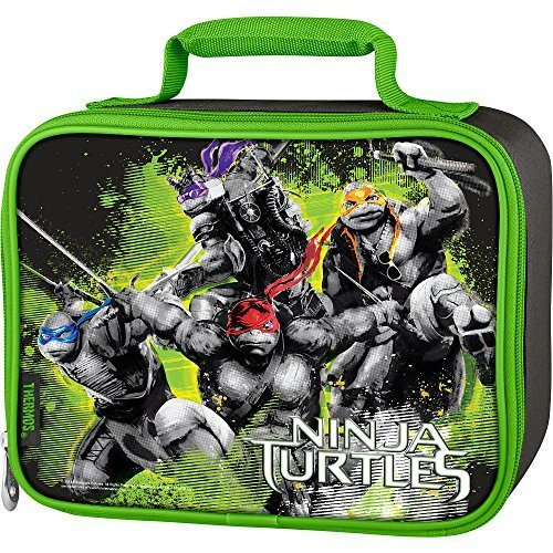 Ninja Turtles Insulated Thermos Lunch Kit Tote 2014 Movie